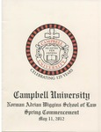 Thirty-Fourth Annual Hooding and Graduation Ceremony (2012) by Campbell University School of Law