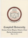 Thirty-Third Annual Hooding and Graduation Ceremony (2011) by Campbell University School of Law