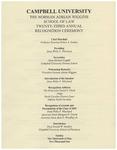 Twenty-Third Annual Recognition Ceremony (2001)