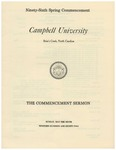 1982 Commencement Sermon by Campbell University