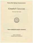 1982 Commencement Sermon