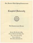 1989 Commencement Sermon