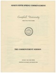 1981 Commencement Sermon by Campbell University