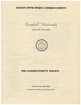 1981 Commencement Sermon