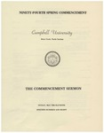 1980 Commencement Sermon by Campbell University
