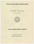 1980 Commencement Sermon