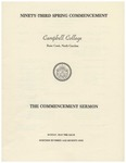 1979 Commencement Sermon by Campbell University