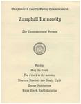 1998 Commencement Sermon