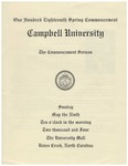 2004 Commencement Sermon by Campbell University