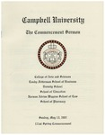 2007 Commencement Sermon by Campbell University