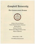 2008 Commencement Sermon by Campbell University