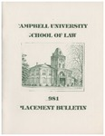 Campbell University School of Law 1981 Placement Bulletin