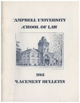 Campbell University School of Law 1982 Placement Bulletin