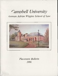 Campbell University School of Law Placement Bulletin 1996