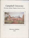 Campbell University School of Law Placement Bulletin 1998