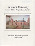 Campbell University School of Law Placement Bulletin Supplement Class 0f 1998