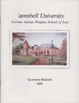 Campbell University School of Law Placement Bulletin 2000