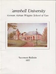 Campbell University School of Law Placement Bulletin 2001