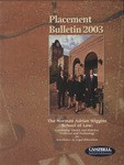Campbell University School of Law Placement Bulletin 2003