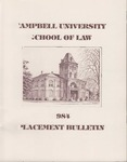 Campbell University School of Law 1984 Placement Bulletin