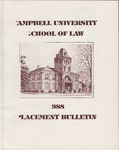 Campbell University School of Law 1988 Placement Bulletin